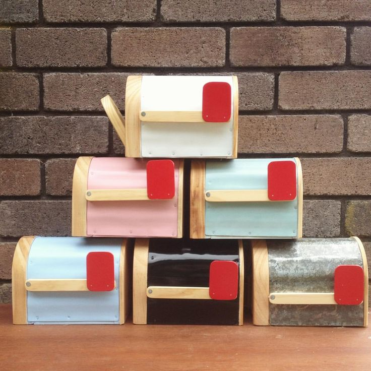 New mailbox colours - white, pink, mint, blue, black and rustic. ✌️Which would you choose?