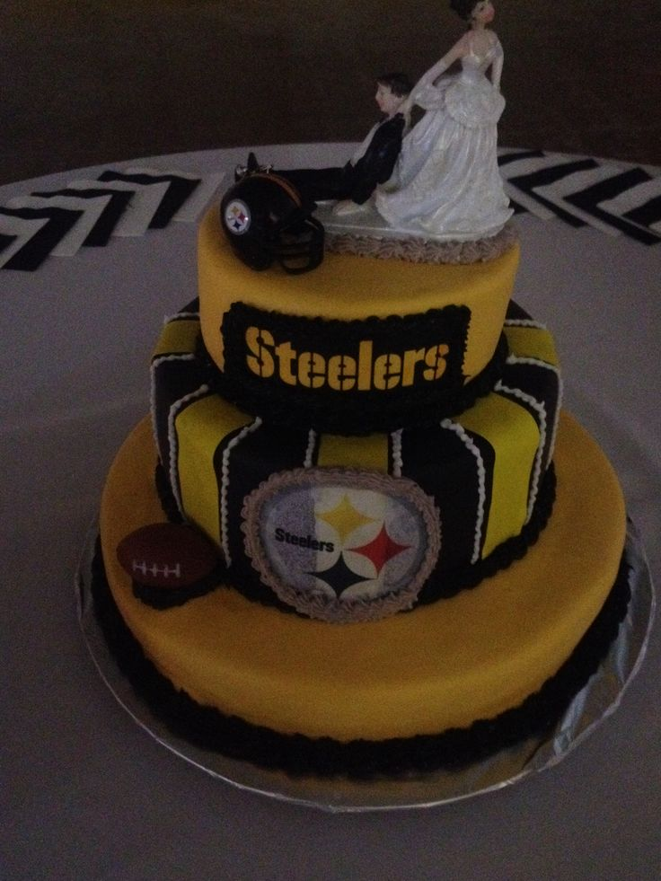 pittsburgh steelers wedding cake topper groom s cake steelers my cakes 18624