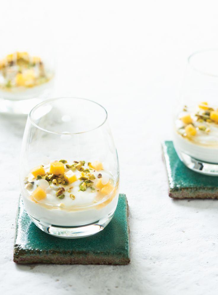 Yogourt grec aux pistaches et au miel #yogourt #déjeuner #santé