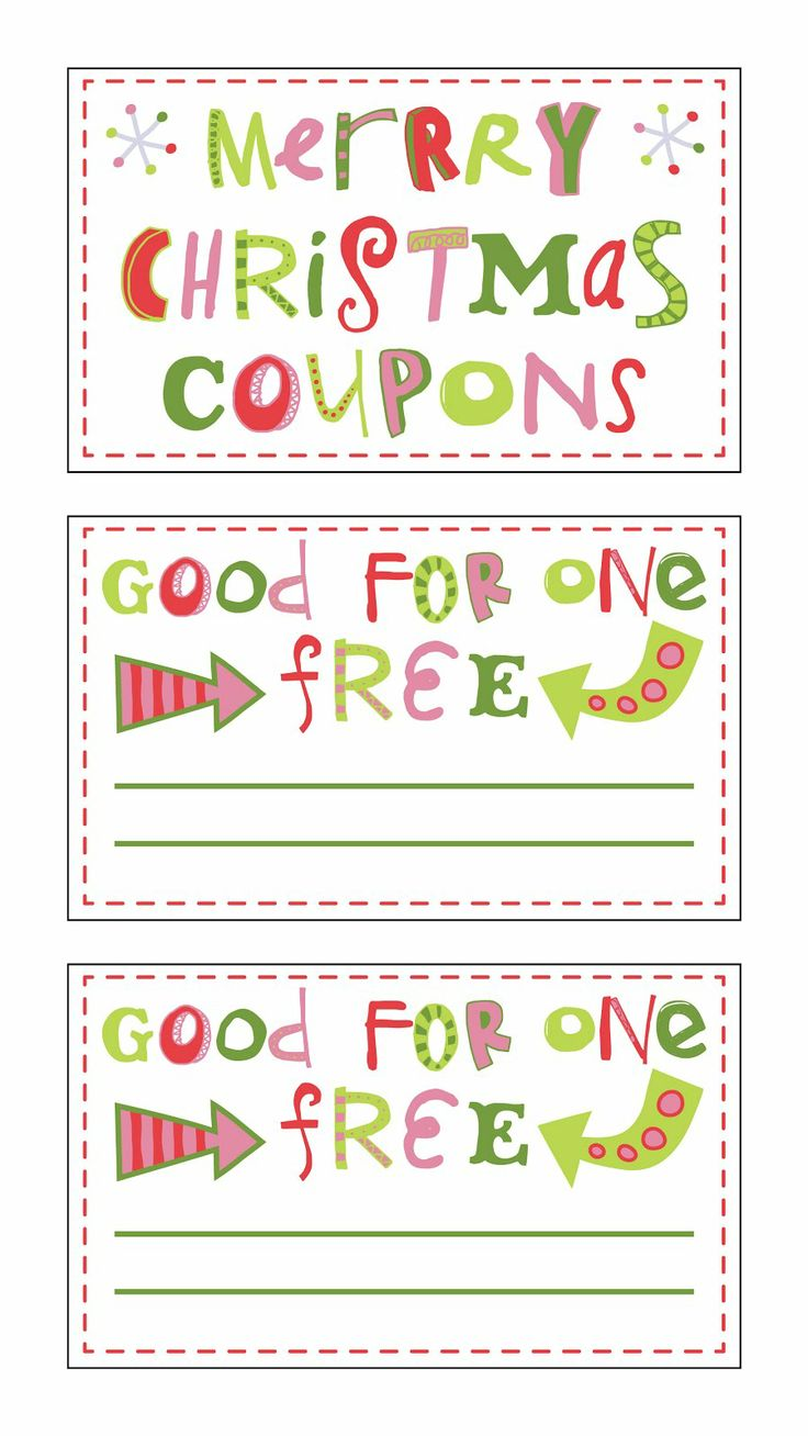 Free Lunch Coupon Template Custom 11 Best Christmas Gift Ideas Images On Pinterest  Christmas Gift .