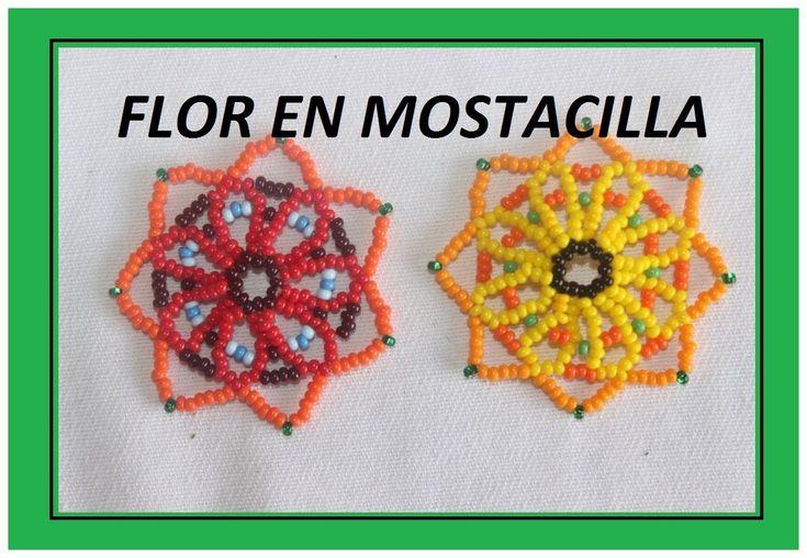 Beaded flower video tutorial | Spanish