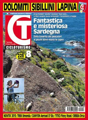 'Fantastica e misteriosa Sardegna'. È il titolo della rivista #Cicloturismo che ad Agosto dedica la sua copertina alla #Sardegna. #biketravel #biketouring #sardinia