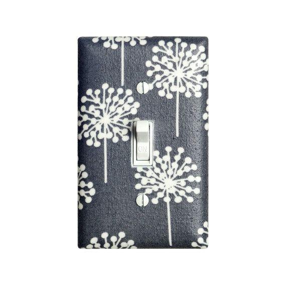 Dandelion Nursery Decor / Gray and White Light by SSKDesigns
