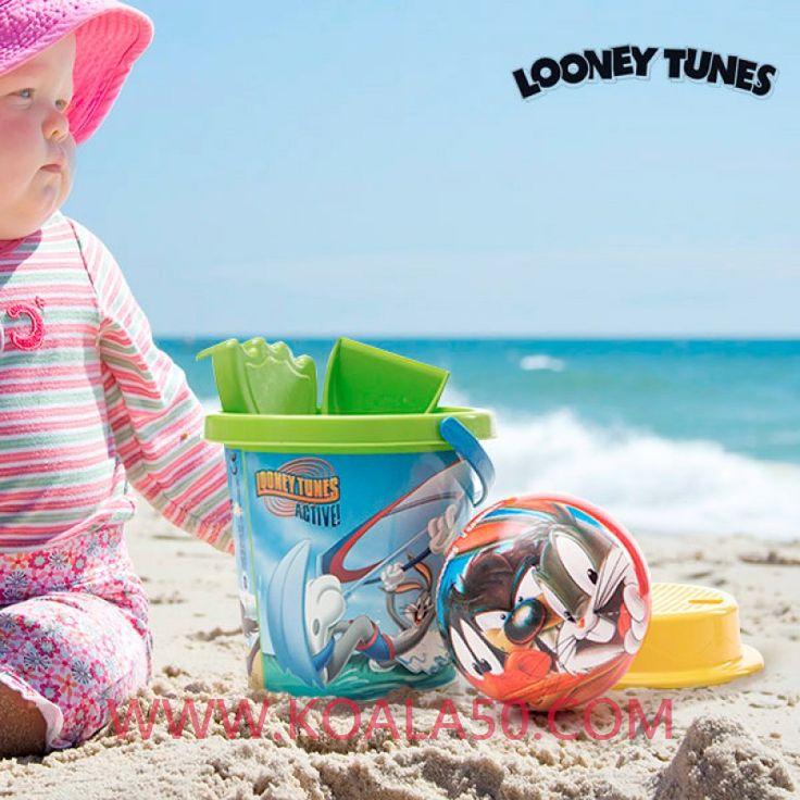Juego de Playa con Pelota Looney Tunes (5 piezas) - 5,16 €  Si estás buscando un regalo para que los más pequeños disfruten del aire libre,eljuego de playa con pelotaLooney Tunes (5 piezas)es lo que estabas buscando.Incluye: pelota, cubo,...  http://www.koala50.com/jugar-al-aire-libre/juego-de-playa-con-pelota-looney-tunes-5-piezas