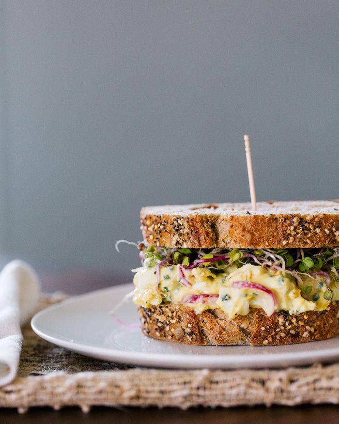 Radish and Egg Salad Sandwiches