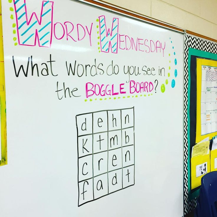 Let's test some vocabulary skills!! Boggle white board game for Wordy Wednesday. Middle School Motivation.