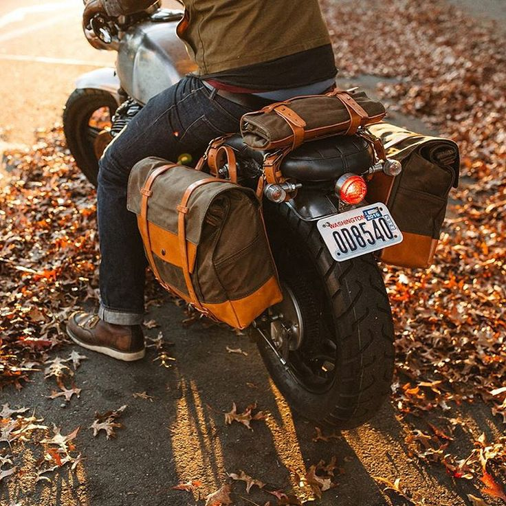 """""""Here's that vintage motorcycle luggage system you were looking for…"""