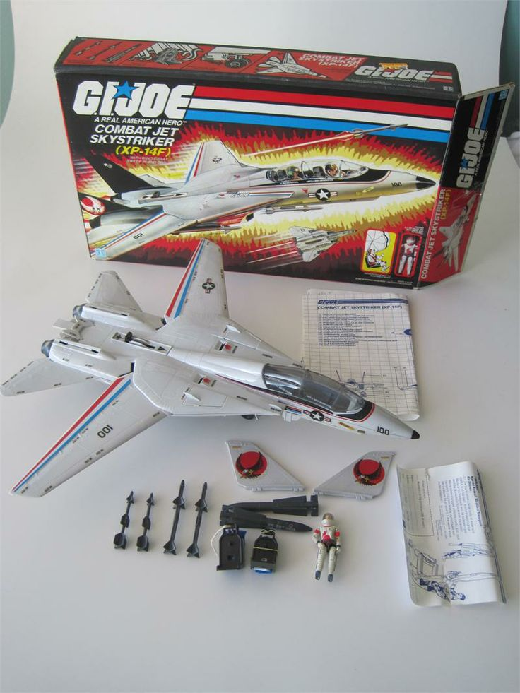 gi joe skystrikers | GI Joe 1983 Skystriker XP-14F w/ Box
