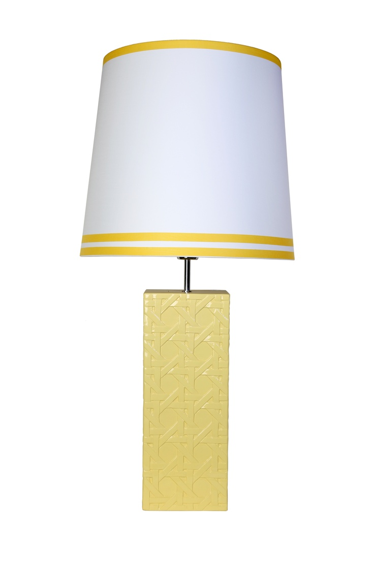 Ceramic trellis Lamp in yellow includes shade - Prego Sem Estopa by Ana Cordeiro