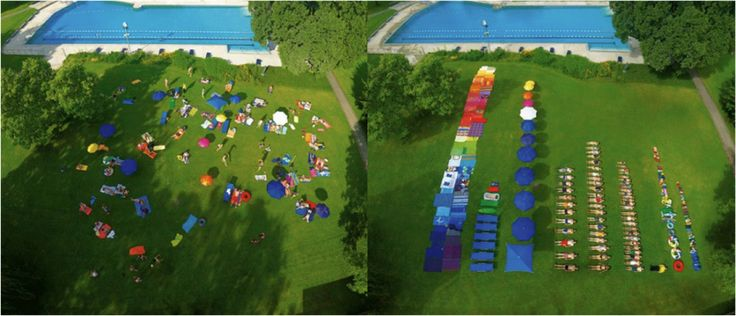 Swimming Pool Recreation Area - before and after.