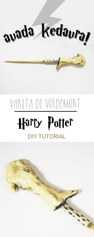[DIY] Haz la varita de Voldemort, muy fácil y con pocos materiales. Si eres fan de la saga #HarryPotter, con esta técnica, podrás hacerte todas las varitas.