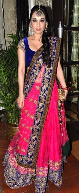 Beautiful colour combination, lehenga and choli.