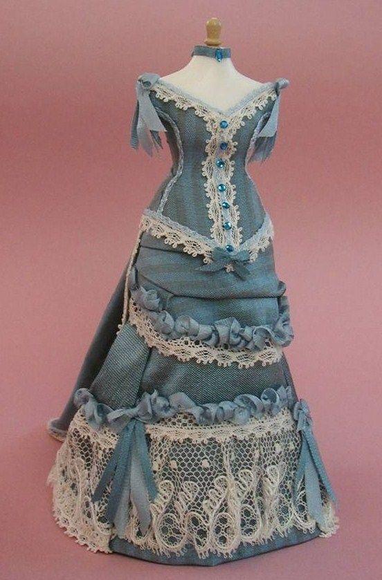 miniature doll's dress