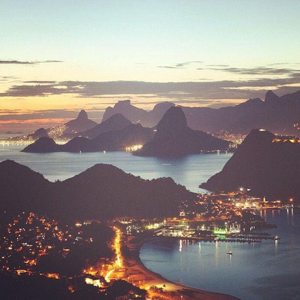 Breathtaking views of Rio at dusk. Photo courtesy of bmtravelclub on Instagram.