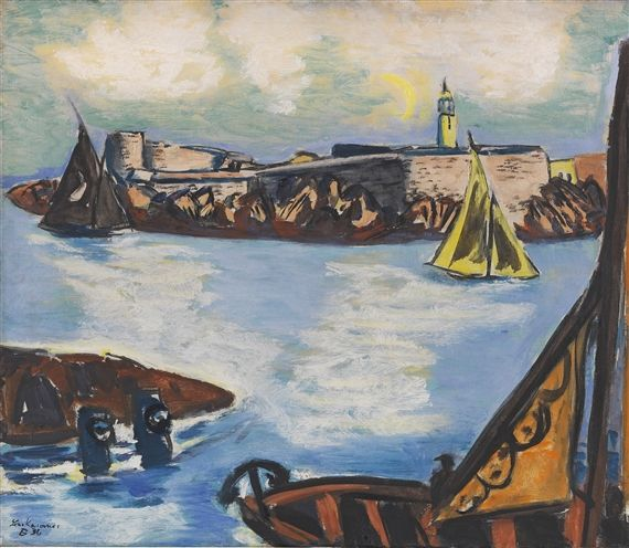 Artwork by Max Beckmann, Château d'If, Made of Oil on canvas