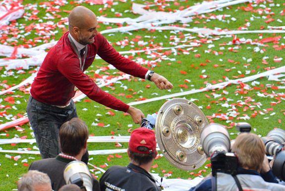 Caption This: Pep Guardiola drops Bundesliga trophy