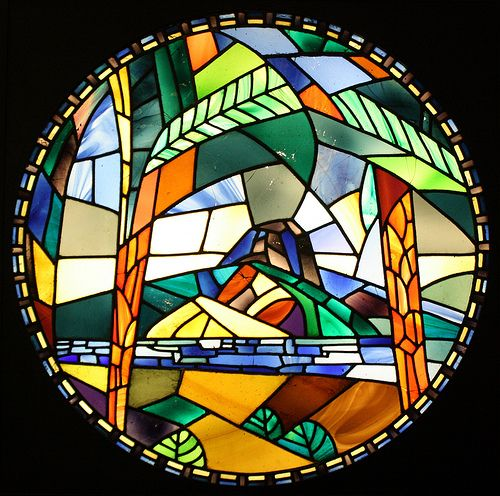 Stained glass roundel designed by Roger Fry for his Omega Workshops | Flickr - Photo Sharing!