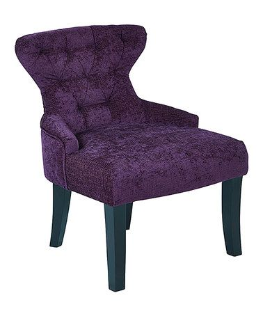 This Walker Grape Curves Hourglass Accent Chair is perfect! #zulilyfinds