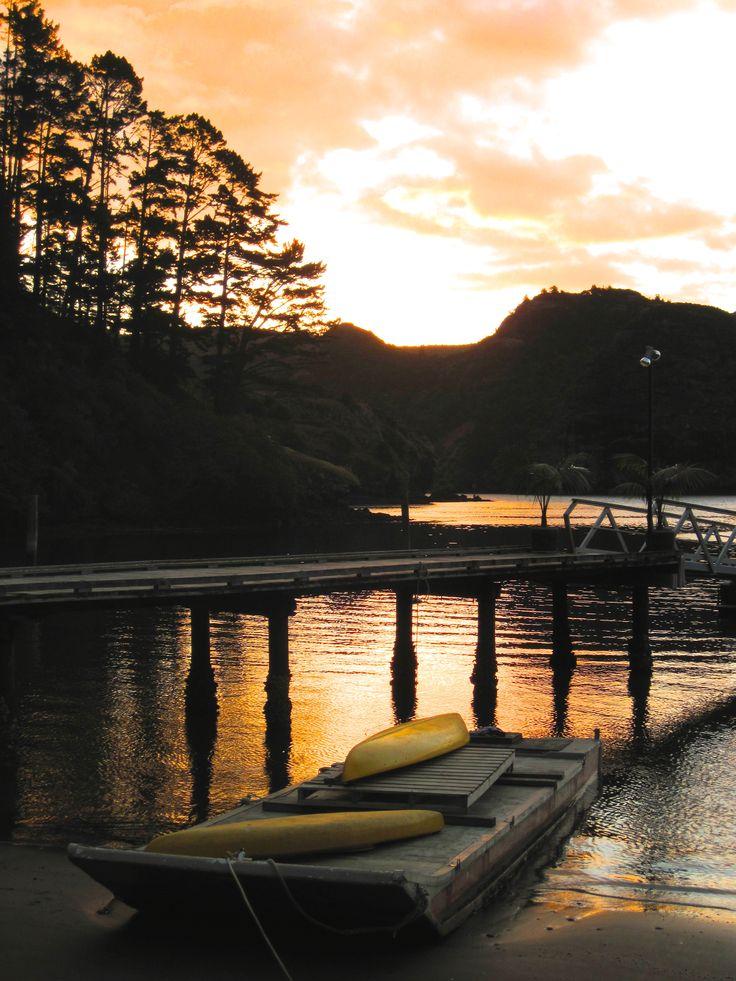 Kingfish Lodge's jetty. Feel like a canoe? I do!