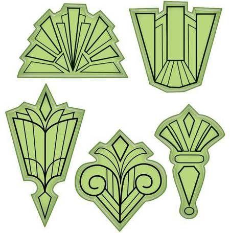 Art deco patterns designs images for Art deco design ideas