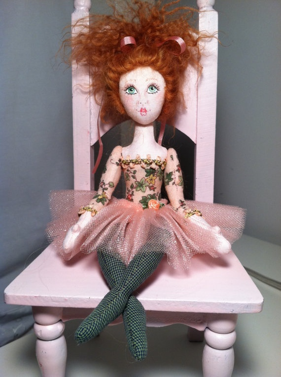 Teacup Ballerina Doll by Judybee26 on Etsy, $39.00: Clothing Dolls, Ballerinas Fairies, Dolls Shabby Chic, Teacups Ballerinas, Ballerinas Dolls, Dolls Ideas