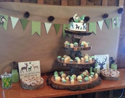Rustic, Country, Deer, Hunting, Baby Shower