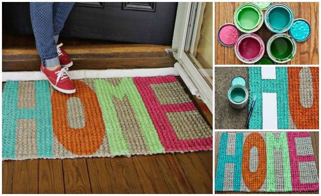 diy door mat  I think I will try this..it would be a cool house warming gift too!