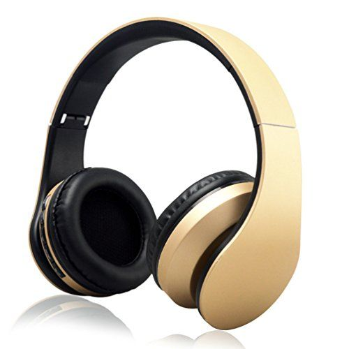 Special Offers - iRunzo On Ear Stereo Wireless Bluetooth Headsets Headphones with Mic 3.5mm Jack FM Radio TF Memory Card MP3 Noise Canceling Folding Strech for iPhone LG Samsung Sony PC Xbox Ps4 Gaming Sports(Golden) - In stock & Free Shipping. You can save more money! Check It (June 30 2016 at 08:01AM) >> http://ift.tt/295yNYt