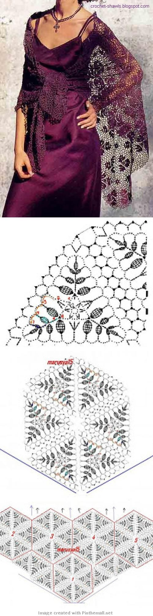 Shawl crochet motif triangle