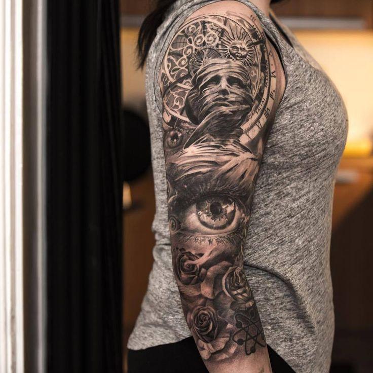 116 besten tattoo bilder auf pinterest bunte tattoos. Black Bedroom Furniture Sets. Home Design Ideas
