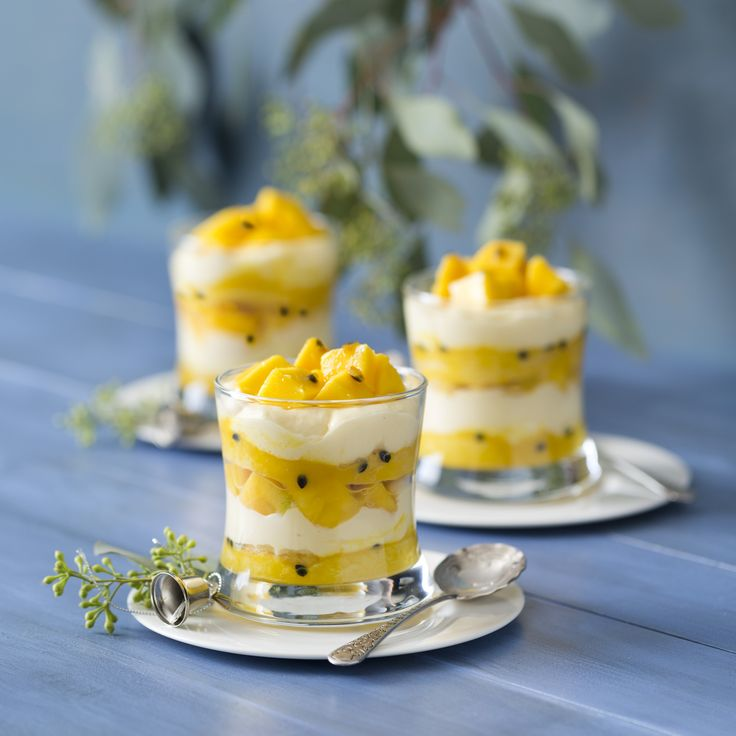 Savoiardi with mango and passionfruit    Thermomix Festive Flavour Cookbook and Recipe Chip