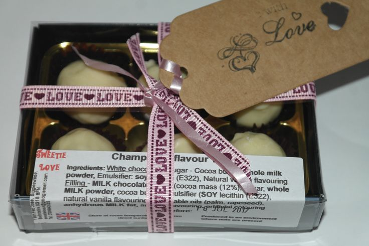 Box of 6 Artisan Handmade Truffles - Champagne by SweetieLoveUK on Etsy