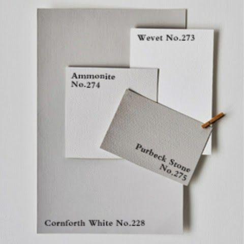 F&B: Cornforth white, wevet, ammonite, purbeck stone