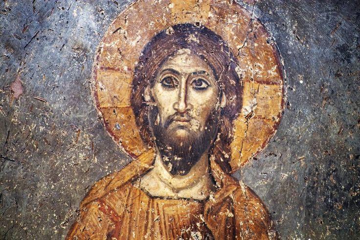 """""""Ο Χριστός σε τοιχογραφία του δυτικού τοίχου της Παναγίας των Χαλκέων με θέμα την μέλλουσα κρίση, δηλ. ο Χριστός Κριτής ... γλυκύτατος! [11ος αιών]"""" - Pavlos"""