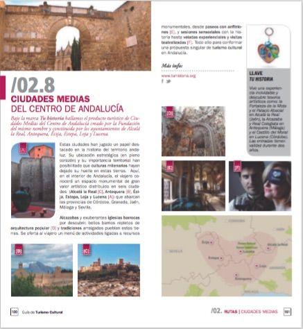 Ya está terminando #julio! En la Guía Cultural editada por #TurismoAndaluz podréis encontrar la recomendación de las #CiudadesMediasdelCentrodeAndalucía, en la página 100 para este próximo mes de #agosto. Os esperamos! #tuhistoriaenverano Andalucía Network Vive Andalucía