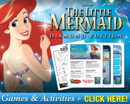 Free #Printable The Little Mermaid #Games & Activities #Disney