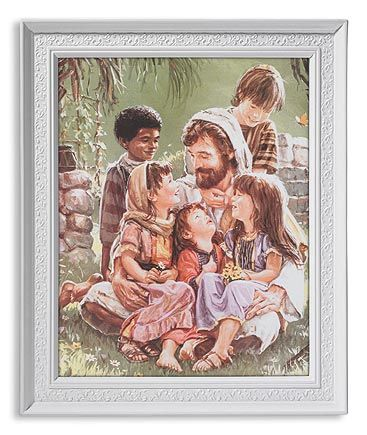 Jesus Sitting with the Children White Finished Frame Religious Picture by Gerffert. Religious Pictures  sc 1 st  Pinterest & 25 best Gerffert Wall Art Collection images on Pinterest   Religious ...