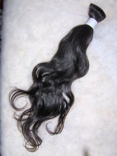 """100% Virgin Malaysian Hair Extensions - 18"""" - Wavy - Natural Black by Elite Virgin Hair. 100% Virgin Malaysian Human Hair. Not Processed. Not Chemically Altered.. Smooth and Easily Stylable.. Never Mixed with Synthetic Hair or Animal Hair. Shed Free and Tangle Free. Lasts Up To 1 Year with proper care.. Can be Dyed or Colored. Each Bundle Weight 40z.. 100% Virgin Malaysian Hair is one of the newest quality of exotic hair extensions today. Malaysian has been recen..."""