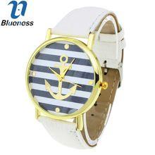 8 colori new fashion cinghia di cuoio di ancoraggio ginevra orologi casual donna orologio da polso luxury brand orologio al quarzo relogio feminino regalo(China (Mainland))