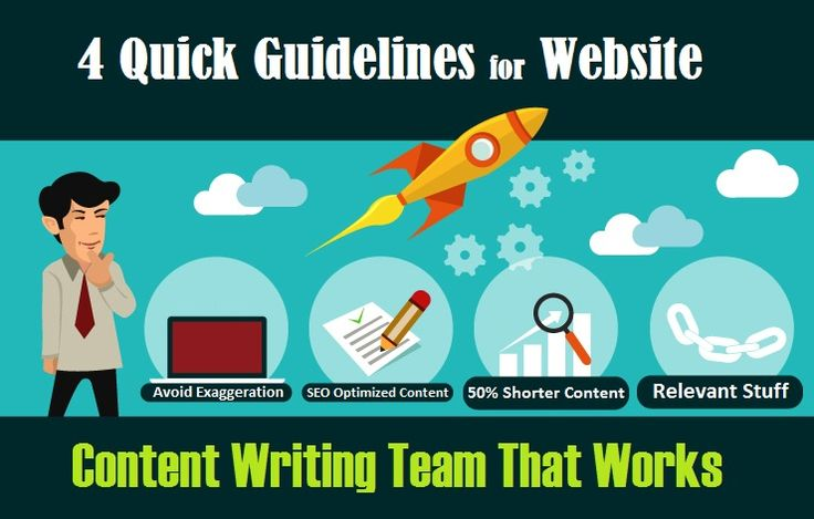 4 Quick #Guidelines for #Website #ContentWriting Team That Works - #SEO #contentmarketing