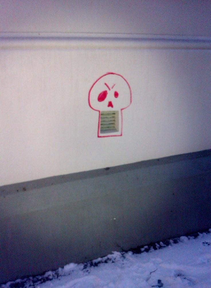 Street art in Gamlebyen,Oslo.