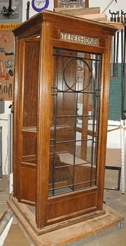 Antique style telephone booth...would love this in my house