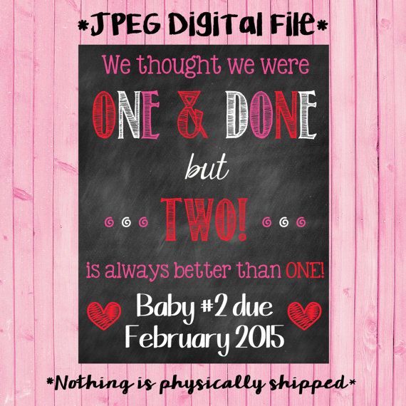 Only Child Valentine's Day Chalkboard Pregnancy Reveal