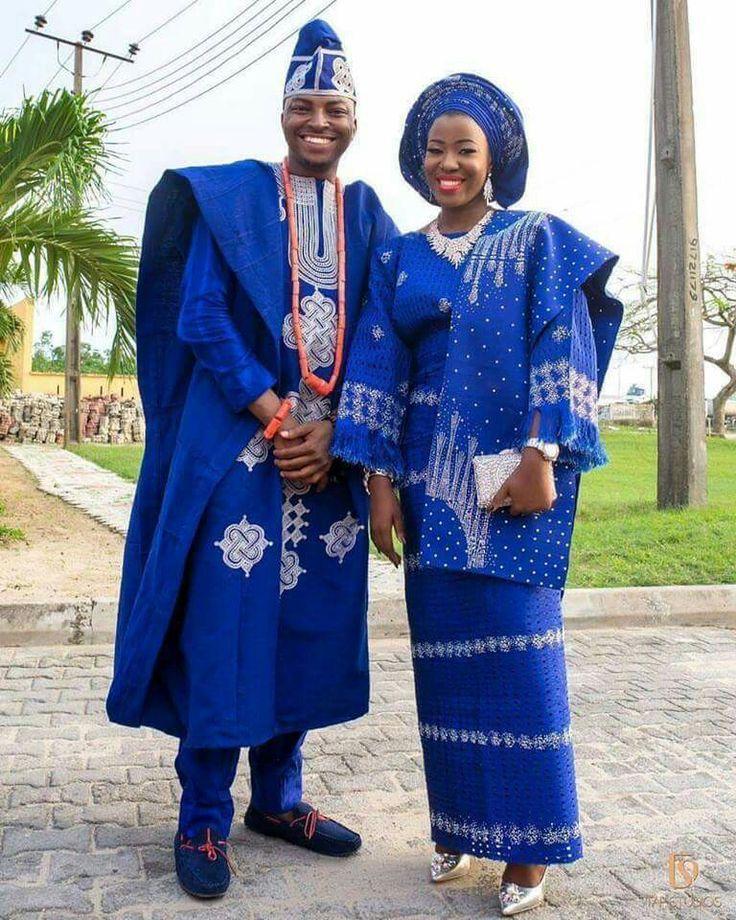 Mariage nigerian tenue traditionnelle for Robes de renouvellement de voeux de mariage taille plus