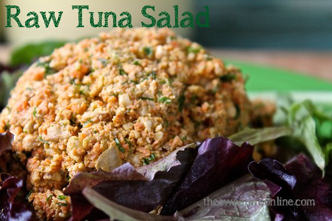 Going fish-free is a breeze when Raw Tuna Salad is so simple to make—and so tasty!
