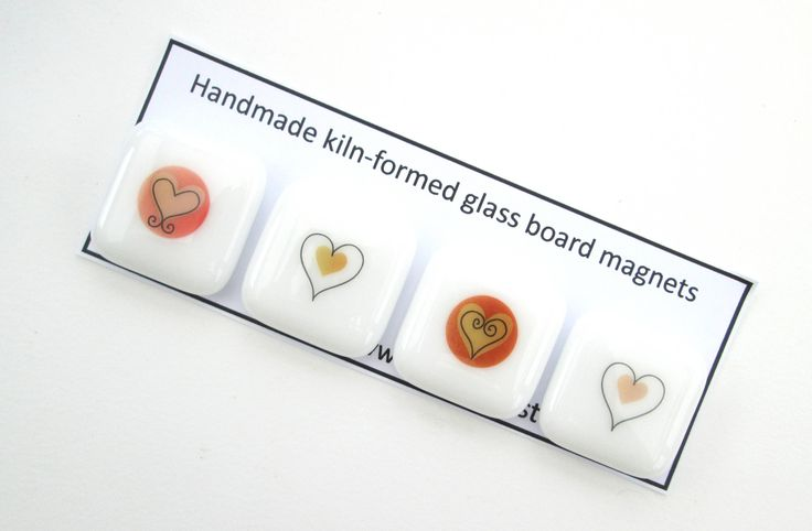SALE romantic magnetic pin set, Red hearts fridge magnets, decorative refrigerator magnet, memo board magnet, home office supplies, romantic by BlueBoxStudio on Etsy