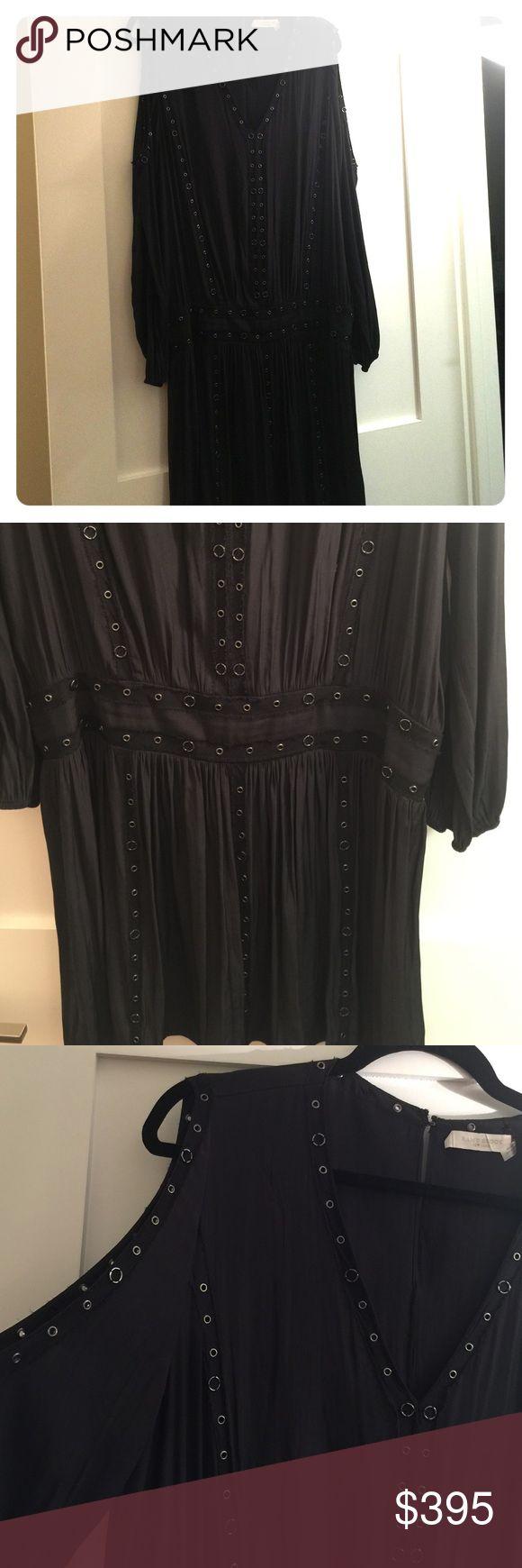 Ramy Brook sz L black dress Ramy Brook sz L black dress, cut out shoulders, v-neck, waistband, mini dress. Worn once, stunning Ramy Brook Dresses Midi