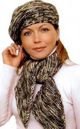 Берет с шарфом «Валентина» » Вязание, вязание спицами, вязание крючком, Схемы вязания, вышивание, макраме, бисероплетение - все это на нашем сайте