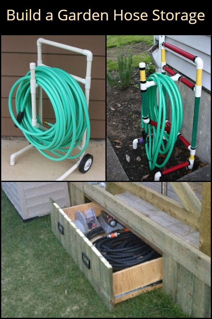 Build A Beautiful Garden Hose Storage With Planter With Images
