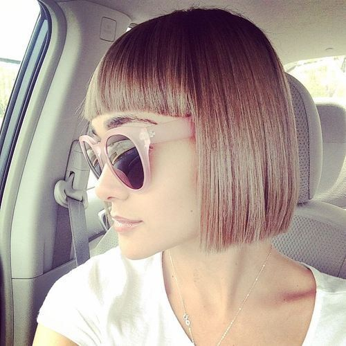 how to cut your own hair straight bob